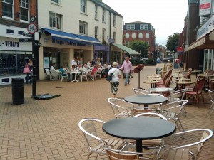 Top of High Street Chelmsford, Alfresco cafes