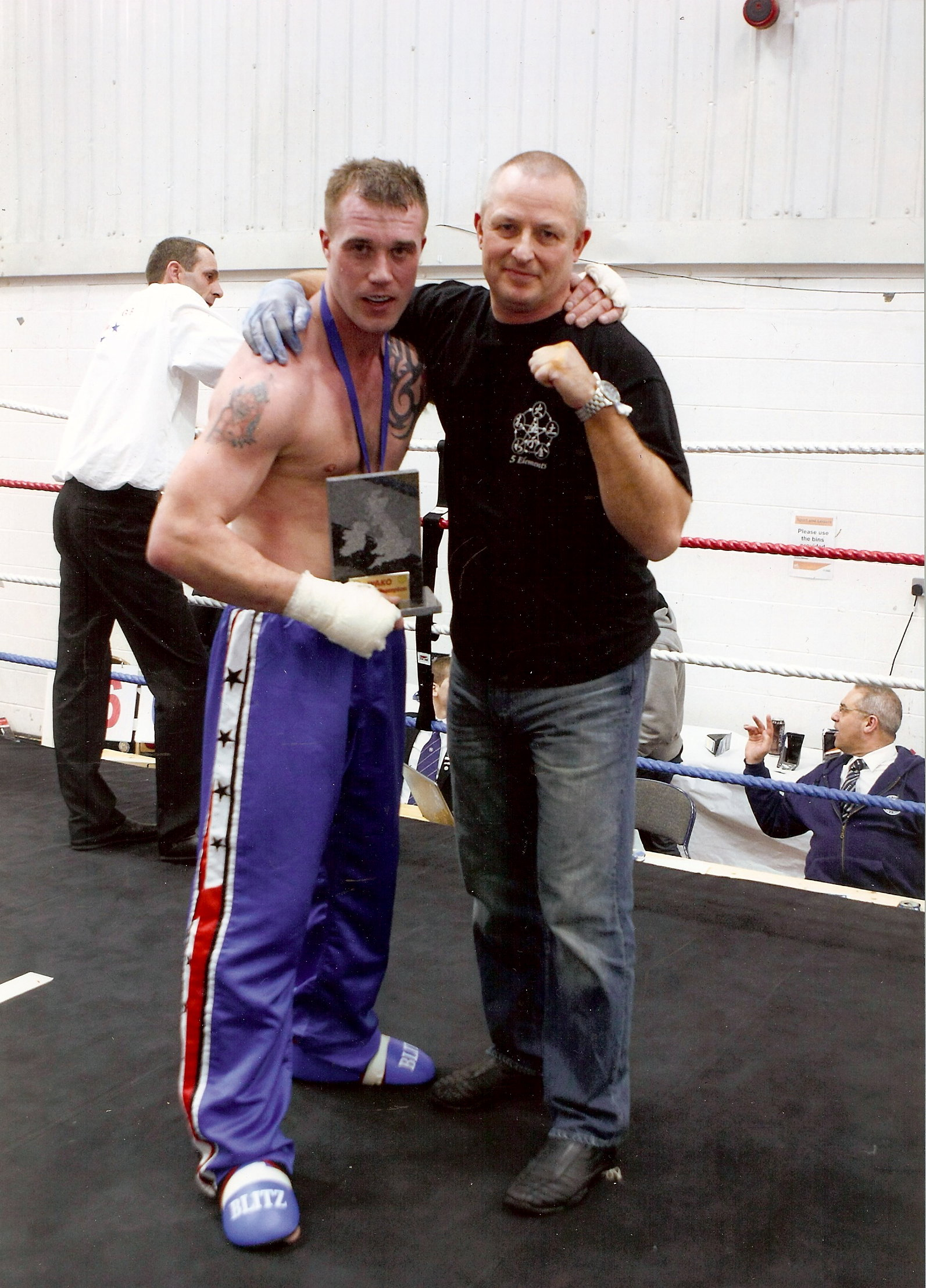 Nick Lumb British Champion with Tony Willis