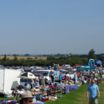 a busy car boot sale somewhere in Essex