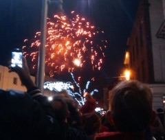 Fireworks after Chelmsford Christmas lights