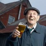 Laughing elderly man