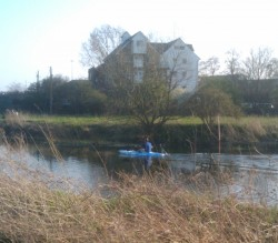 Moulsham Mill and Bloke in a Canoe