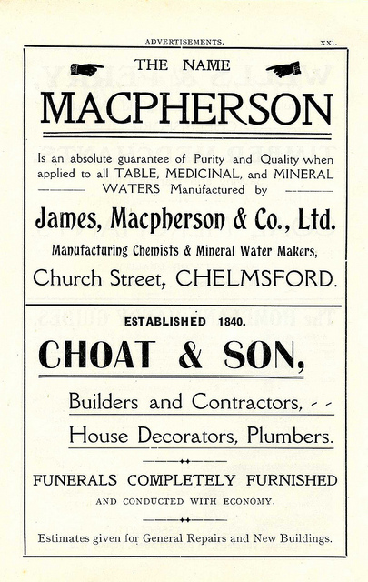 Poster for James MacPherson Chemists