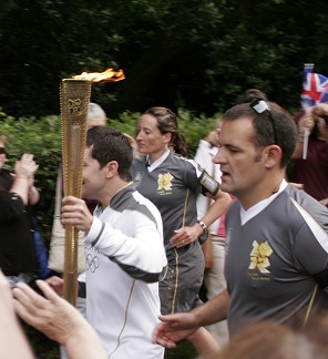 Olympic Passes Through Oaklands Park, Chelmsford