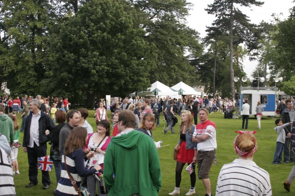 Chelmsford Museum garden - Olympic Torch Festival