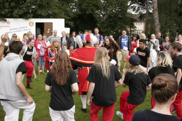 Chelmsford Town Crier Joins the Street Dancers