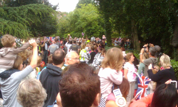 Olympic Torch leaves the park