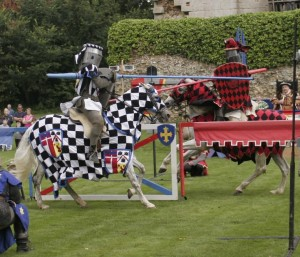 Knights jousting in Essex