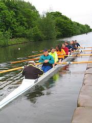 8 man rowing boat