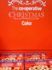 Co-op Christmas Cake display