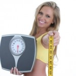 Weight Loss Consultant with scales and measuring tape