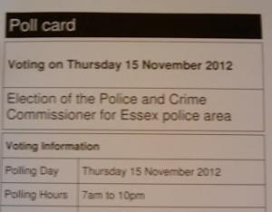 Essex Police Poll Card