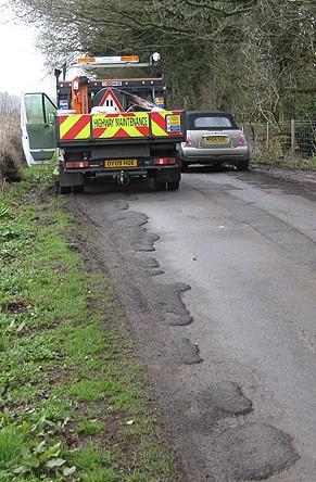 Pothole repair, Essex