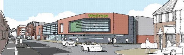Artist impression of the new Waitrose in Chelmsford