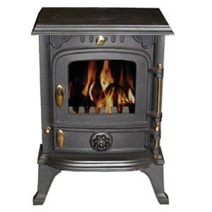 A cast iron woodburner