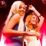 2 Essex girls at a nightclub