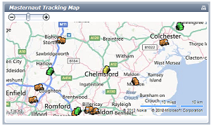 Essex Snow Gritter Map GPS