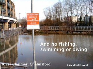 River Chelmer beside Bond Street, Chelmsford
