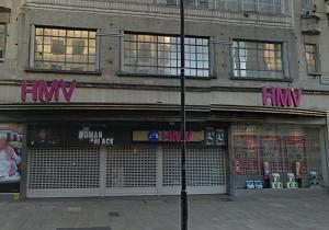 HMV on Oxford Street, London. Closed.