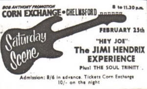 Jim Hendrix Live At The Chelmsford Corn Exchange – Feb 25th 1967