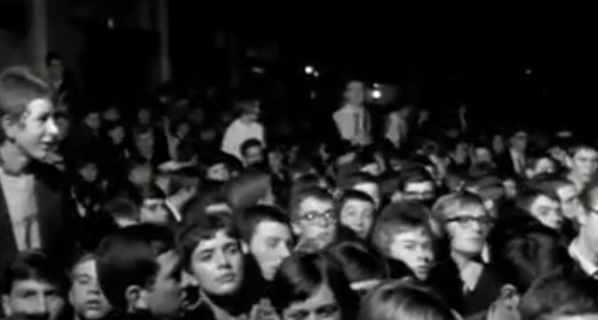Jimi Hendrix at the Chelmsford Corn Exchange Crowd