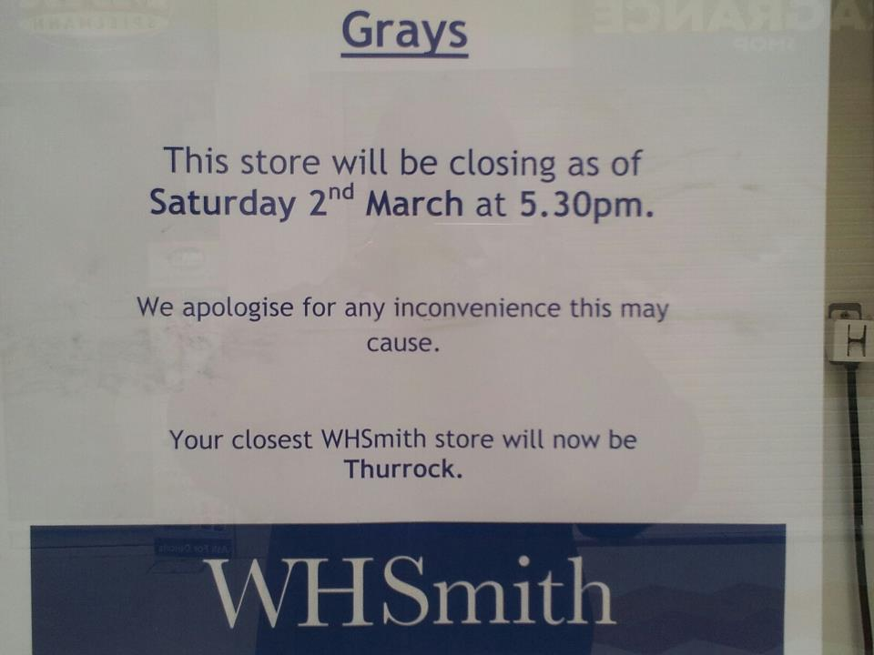 WHSmith In Grays