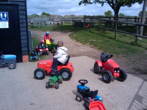 Kids on the tractors