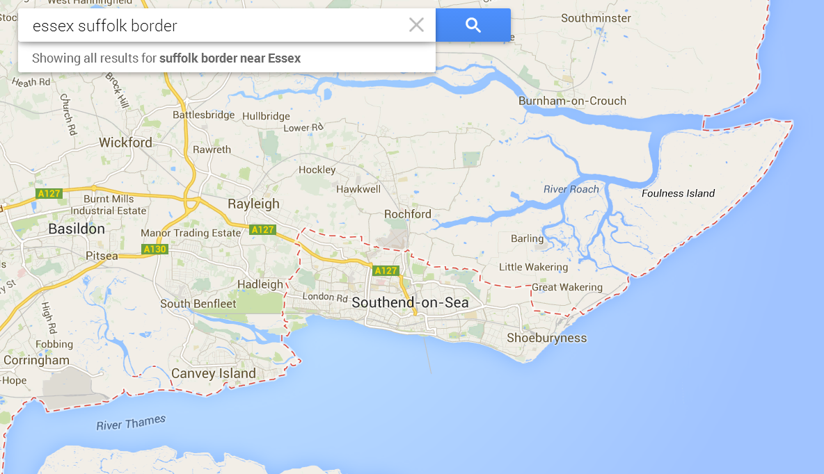 Southend dropped out of Essex - Google Maps