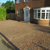 A block paved driveway in Essex