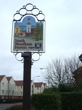 South Woodham Ferrers town sign