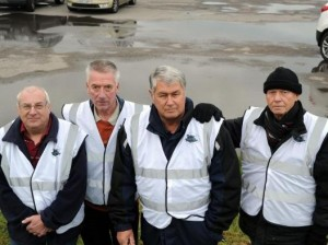 Councillors at Labworth car park on Canvey