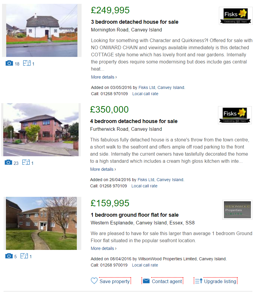 Canvey Island properties for sale