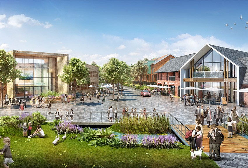Artistic Impression of Dunton Hills Garden Village