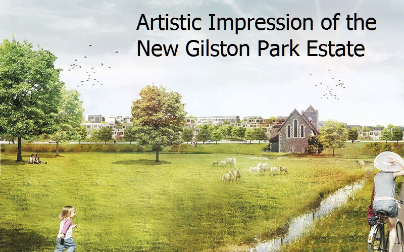 Gilston park estate village