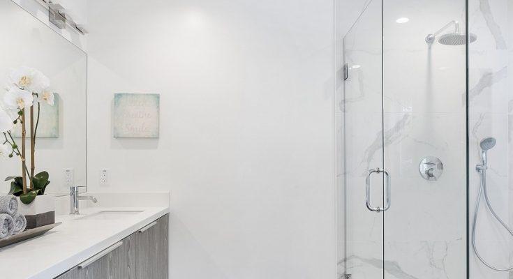 luxury shower installation