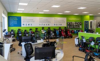 inside a CareCo mobility shop