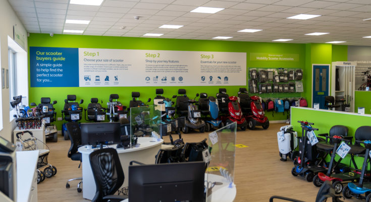 inside a CareCo mobility shop